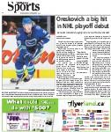 Oreskovich a big hit in NHL playoff debut: Canucks forward enjoying life as a fourth-line checker