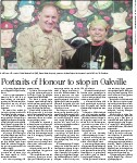Portraits of Honour to stop in Oakville
