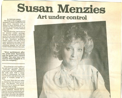 Susan Menzies: Art under control