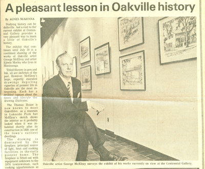 A pleasant lesson in Oakville's history