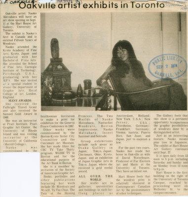 Oakville artist exhibits in Toronto