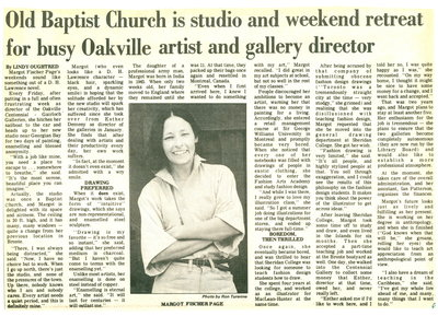 Old Baptist Church is studio and weekend retreat for busy Oakville artist and gallery director
