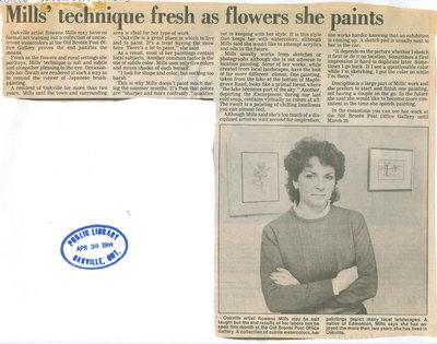 Mills' technique fresh as the flowers she paints