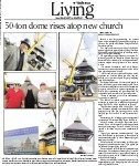 50-ton dome rises atop new church