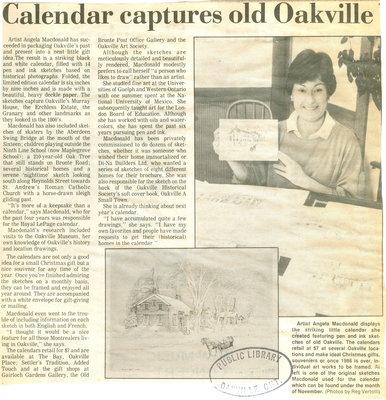 Calendar captures Old oakville