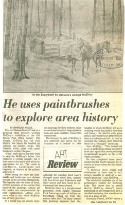 He uses paintbrushes to explore area history