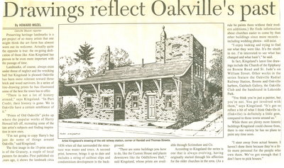 Drawings reflect Oakville's past