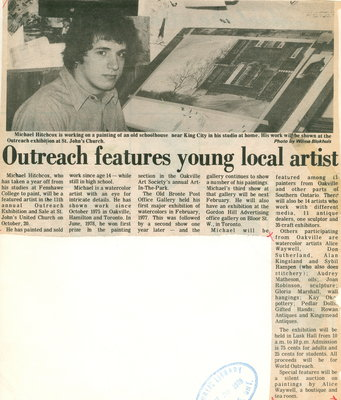 Outreach features young local artist