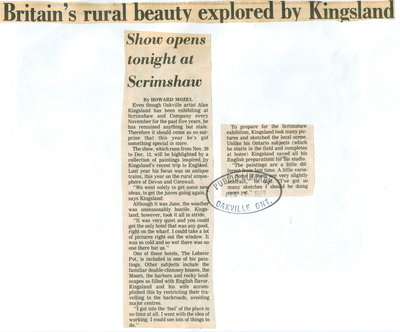 Britain's rural beauty explored by Kingsland