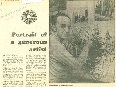 Portrait of a generous artist