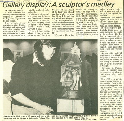 Gallery display: A sculptor's medley