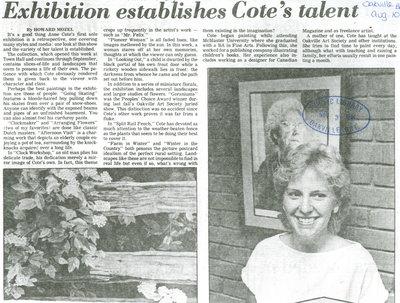 Exhibition establishes Cotes' talent