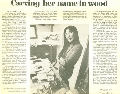Carving her name in wood