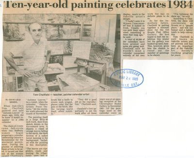Ten-year-old painting celebrates 1984