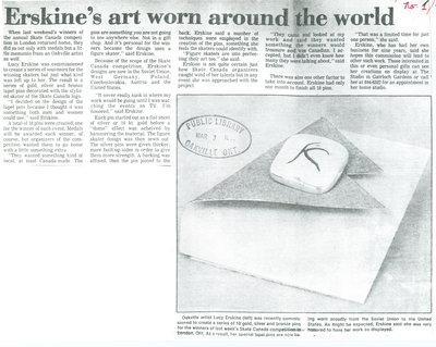 Erskine's art worn around the world