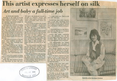 This artist expresses herself on silk