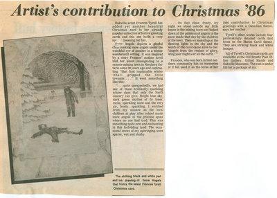 Artist's contribution to Christmas '86