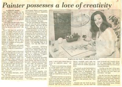 Painter possesses a love of creativity