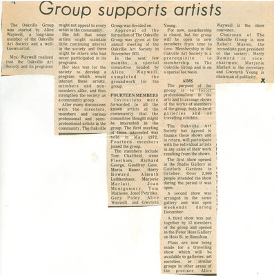 Group supports artists