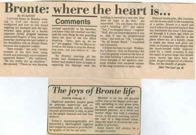 Bronte: where the heart is ...