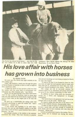 His love affair with horses has grown into a business