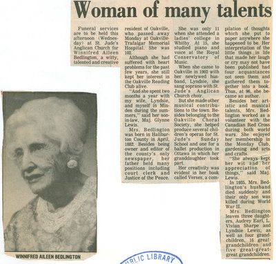 Woman of many talents