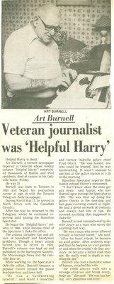 Veteran journalist was 'Helpful Harry'