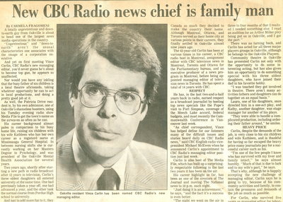 New CBC Radio news chief is family man