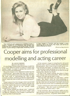 Cooper aims for professional modelling and acting career