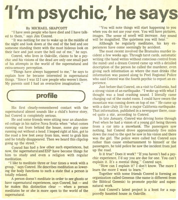 'I'm psychic,' he says