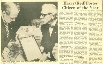 Harry 'Red' Foster Citizen of the Year