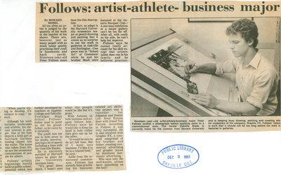 Follows: artist-athlete-business major