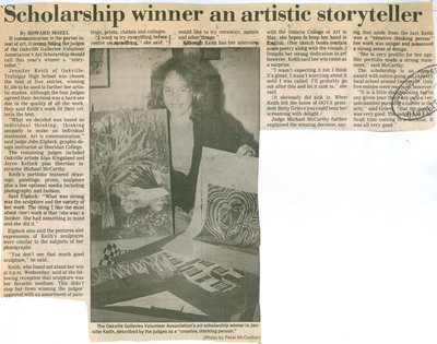 Scholarship winner an artistic storyteller