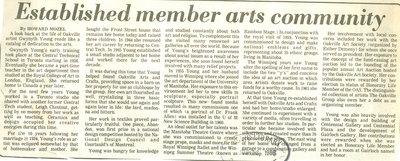 Established member of arts community