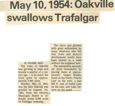 May 10, 1954: Oakville swallows Trafalgar