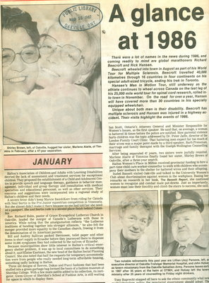 A glance at 1986