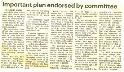 important plan endorsed by committee
