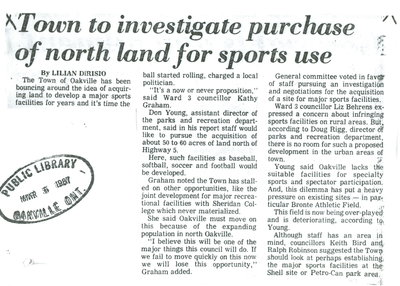 Town to investigate purchase of north land for sports use