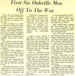 First six Oakville men off to the war
