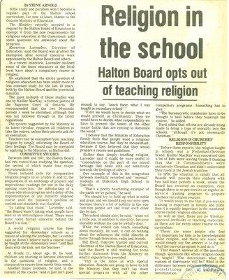 Religion in the school