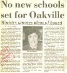 No new school set for Oakville