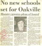 No new school set for Oakville