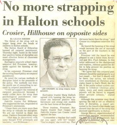 no more strapping in Halton schools