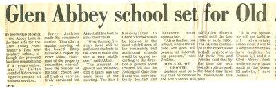 Glen Abbey school set for Old Abbey Lane