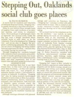 Stepping out, oaklands social club goes places
