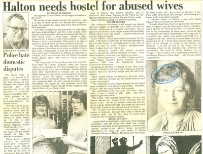 Halton needs hostel for abused wives