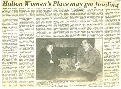 Halton Women's Place may get funding