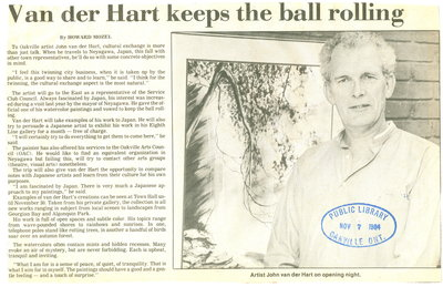 Van der Hart keeps the ball rolling
