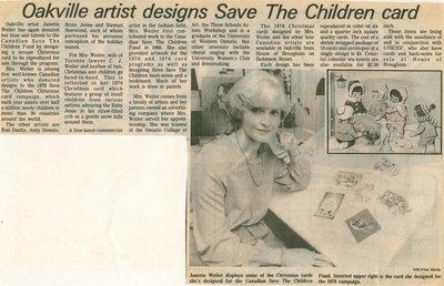 Oakville artist designs Save the Children card