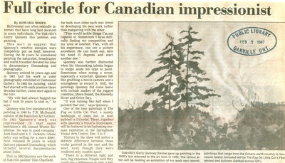 Full circle for Canadian impressionist